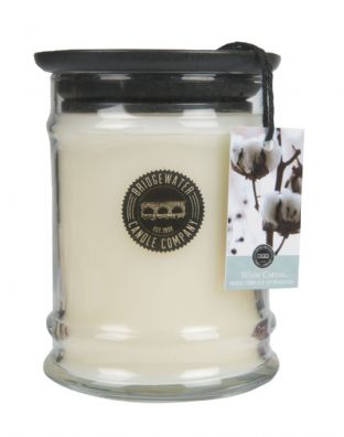 White Cotton Small Jar Candle